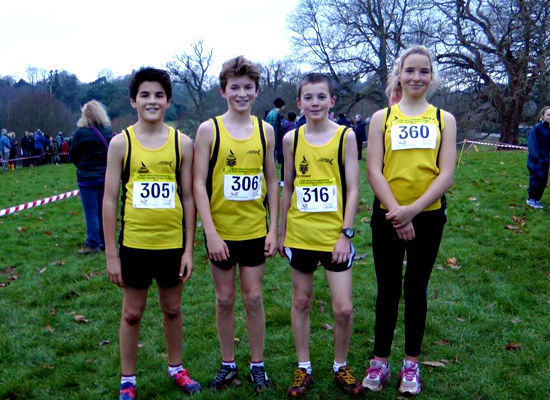 Truro School Students at the South West Inter-County Cross Country Championships