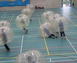 Bubble Football at Truro Boarding School