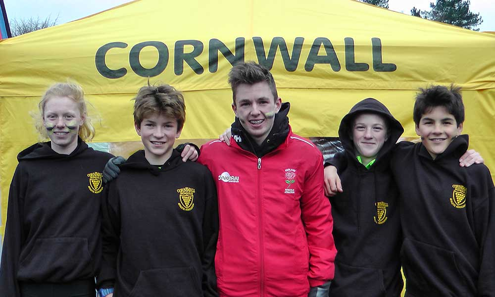 Truro Schools Runners in the Cornwall Cross County Team