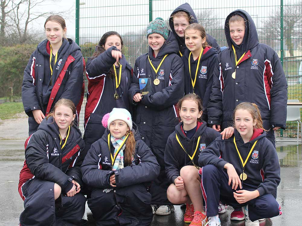 Under 12 School's County Netball Champions 2015 Cornwall