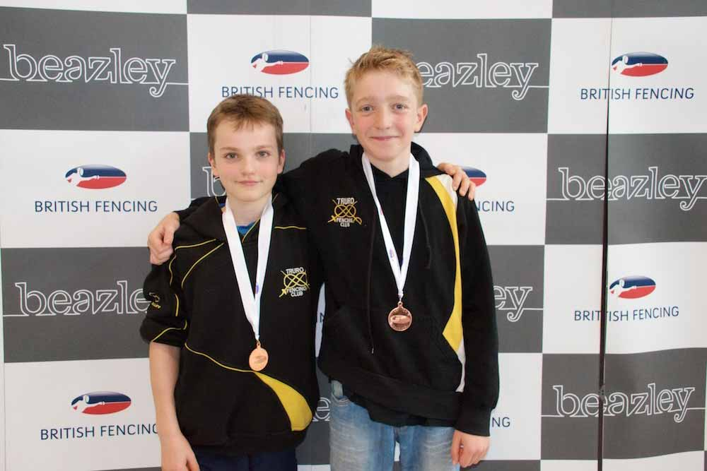 Max Cromie and Luke Barnsley pictured after finishing 5th and 6th respectively,