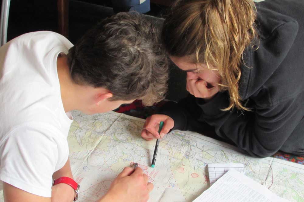 Truro School Students Plan Route