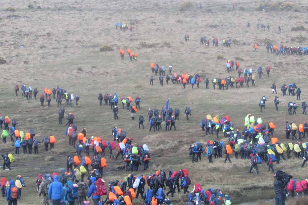Teams Set Off at the Start of the Ten Tors 2015