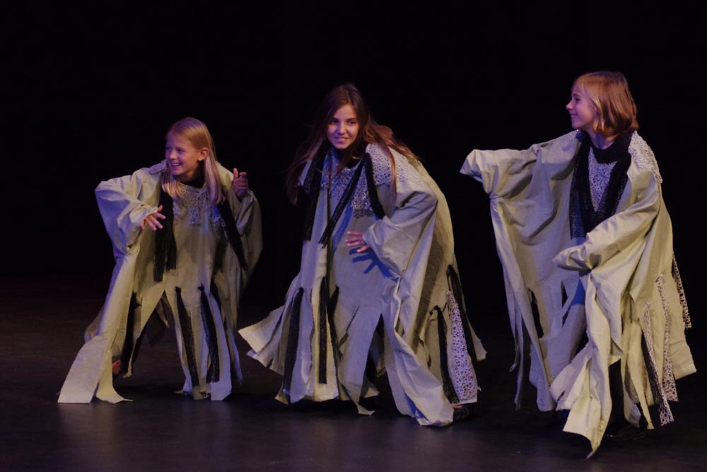 Double, double toil and trouble! Witches take to the stage. Photo courtesy of Marc Gregory.