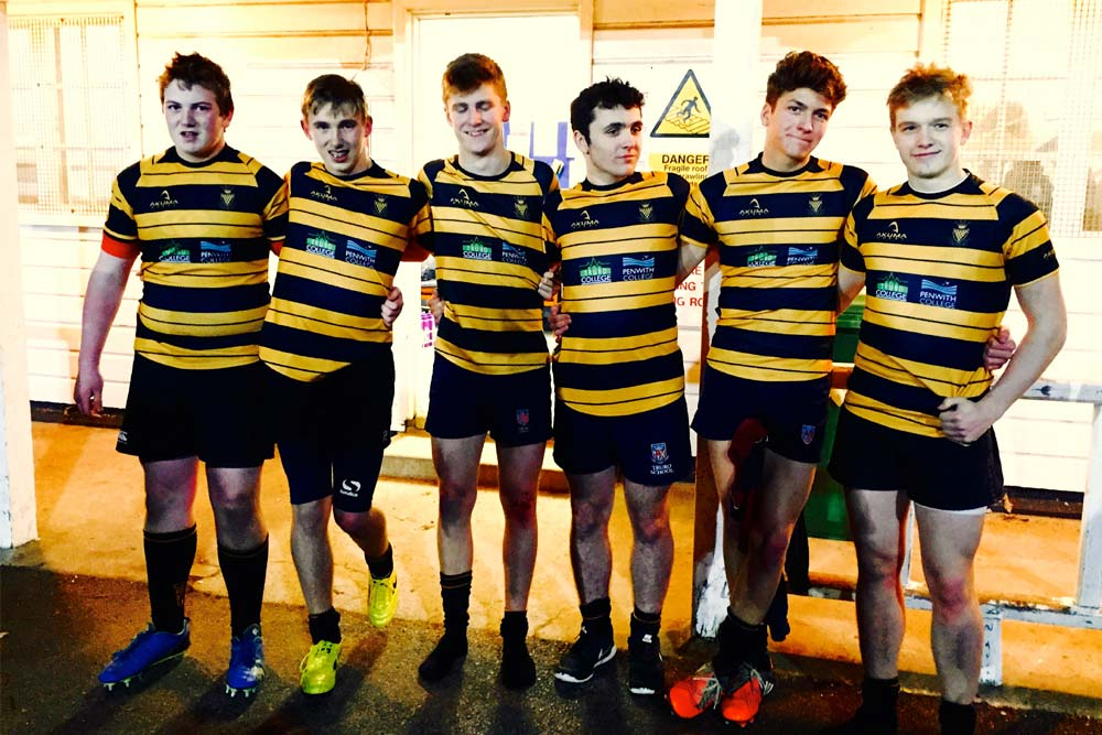 From left: Toby Haywood, Billy Bateson, Callum Penry, Ollie Pugh, Troy Sixton, Roan Kitto