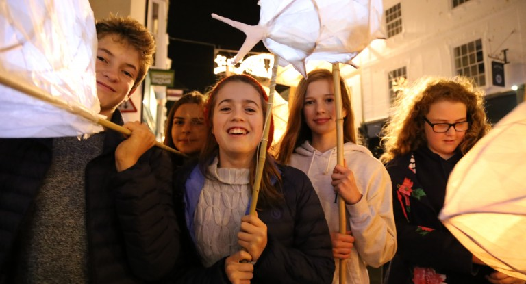 Truro School 2015 Lantern - City of Lights parade, Cornwall
