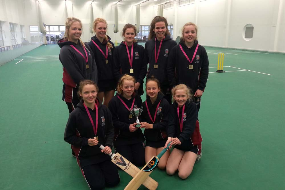 County Champions - The Truro School Under 15 Girls' Indoor Cricket Team