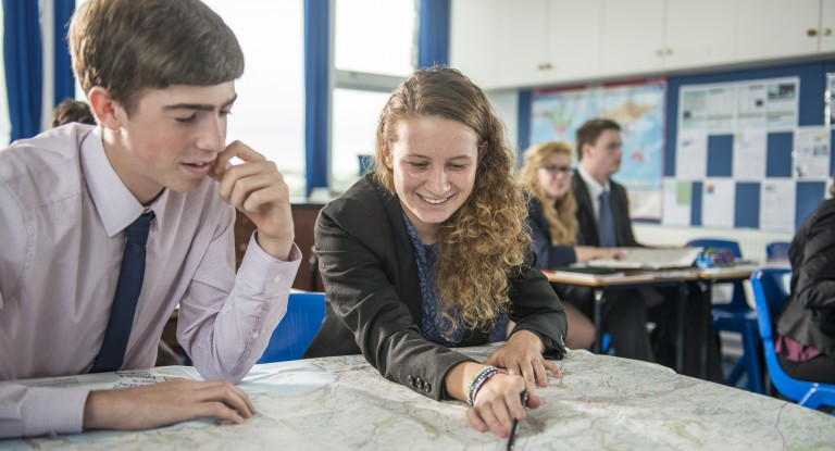 Sixth Form, Geography Lesson, Truro School