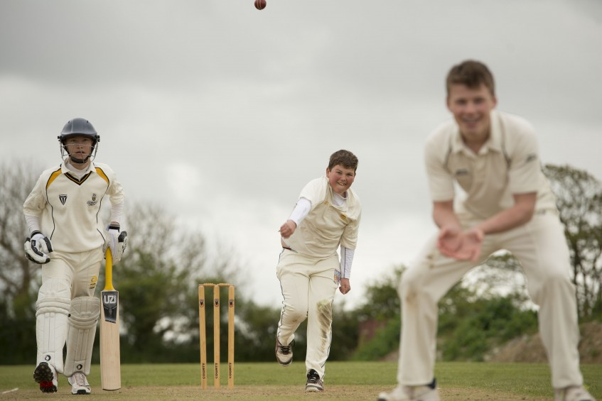Cricket, School, England, Truro, Cornwall