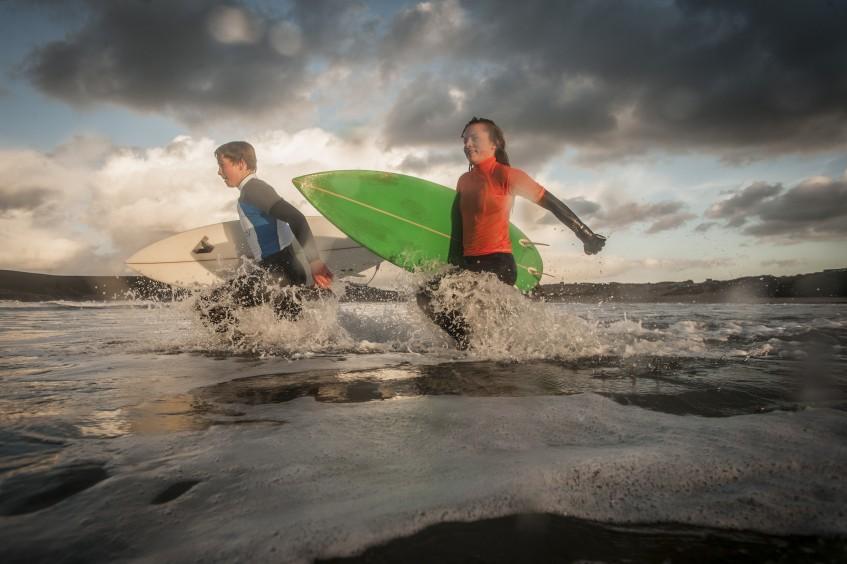 truro school, surfing